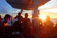 San Blas Adventure blue sailing boat to Panama